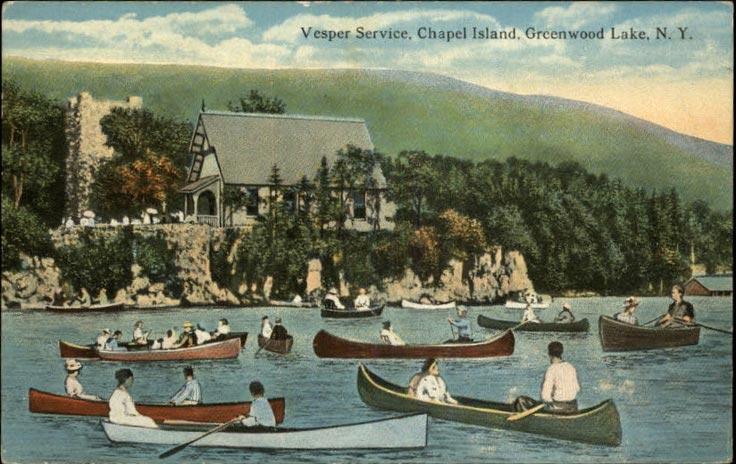 canoes for mass, historic, chapel island, Greenwood Lake NY, Waterstone Inn, the Waterstone Cottage