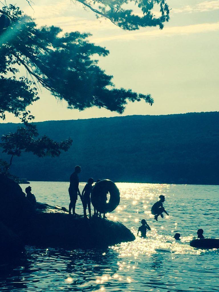 Sunset Play at Charlie's Cove, East side of Greenwood Lake, Waterstone Inn
