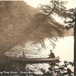 couple in canoe, historic, leaning tree cove, Greenwood Lake NY, Waterstone Inn, the Milford