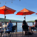 Dining on the waterfront deck on Greenwood Lake at Cove Castle.