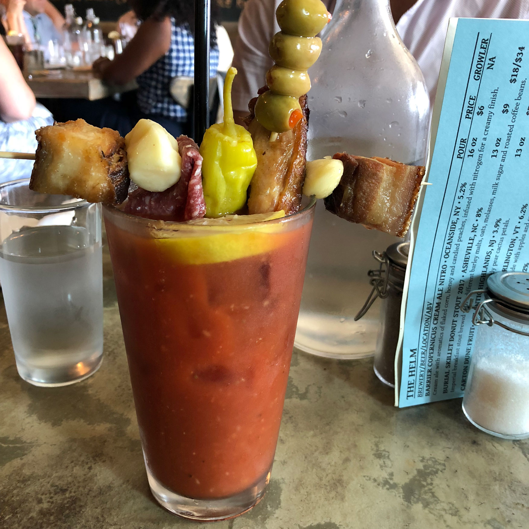 A Bloody Mary at the Helm Restaurant